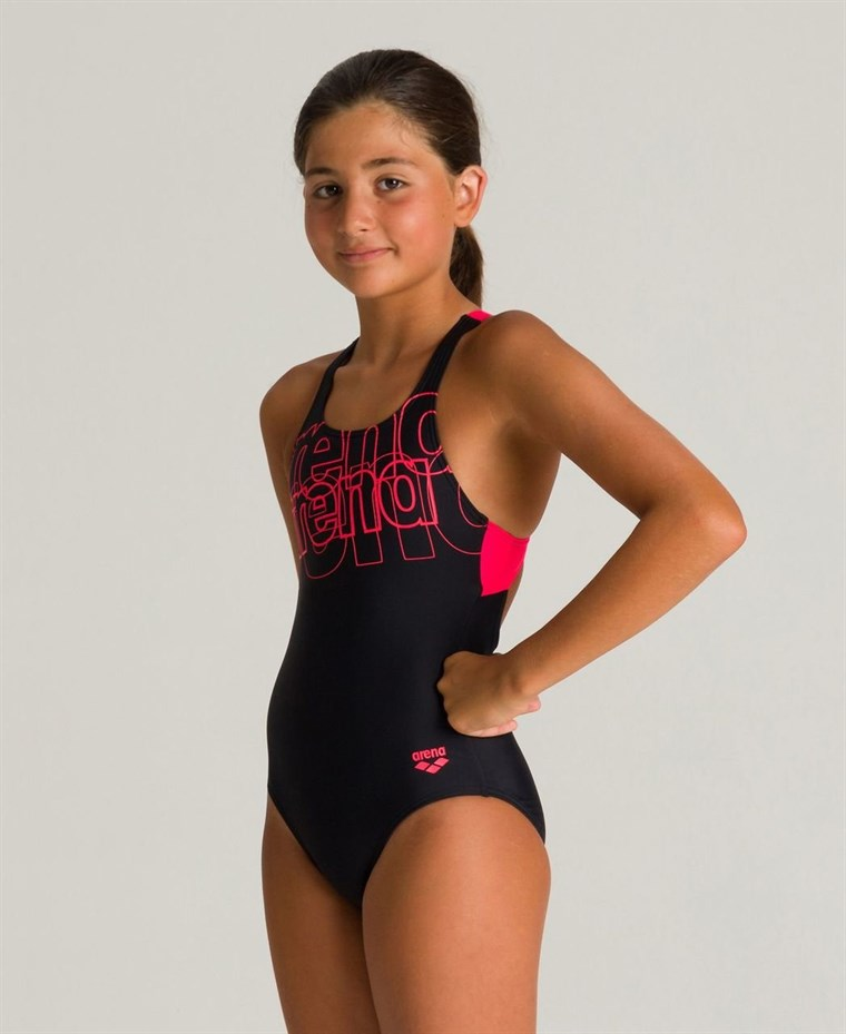 Arena G Spotlight Junior Swim Pro Back One Piece L Kız Çocuk Yüzücü Mayosu