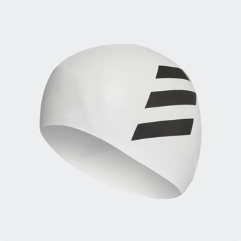 adidas 3 Stripes Swim Cap Bone