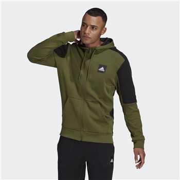 adidas Must Haves Full-Zip Stadium Hoodie Erkek Sweatshirt