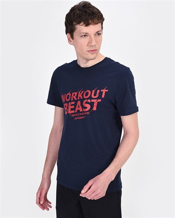 Skechers Graphic Tees M Workout Beast Erkek Tişört